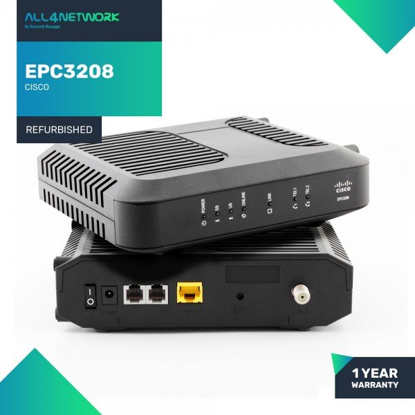 EPC3208 Cisco EPC3208 EuroDOCSIS 3.0 8x4 Channel b...