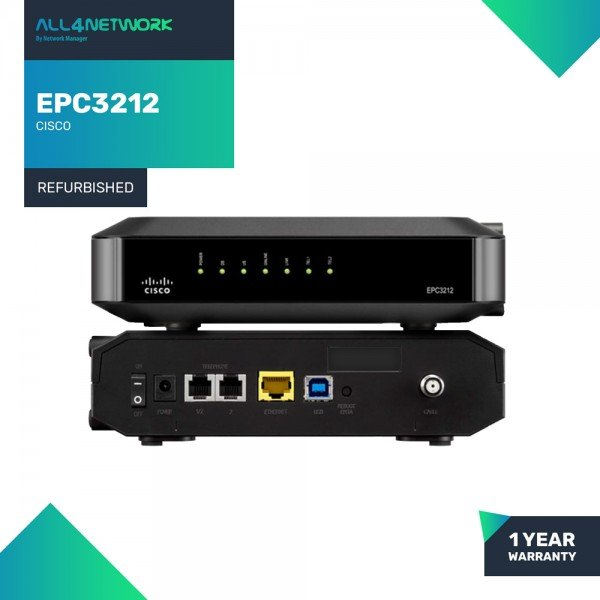 EPC3212 Cisco EPC3212 EuroDOCSIS 3.0 8x4 Channel b...