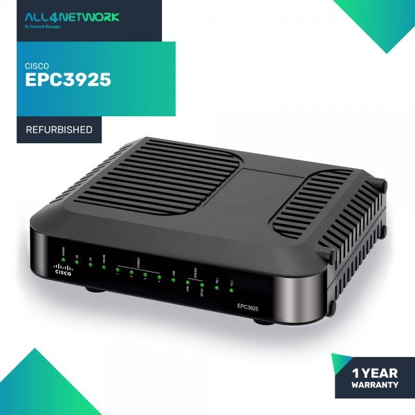 EPC3925 Cisco EPC3925 EuroDOCSIS 3.0 8x4 Channel b...