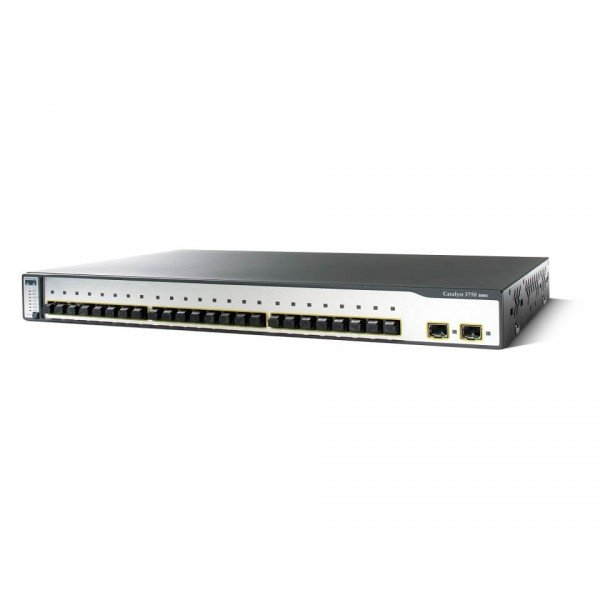 WS-C3750-24FS-S Cisco Catalyst 3750 Series 24 100B...