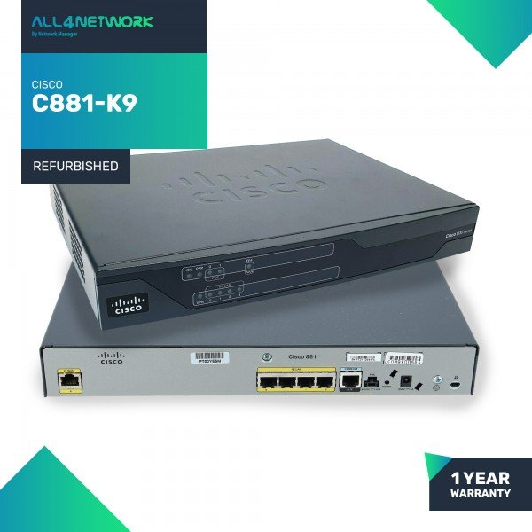 C881-K9 Cisco 880 Series C881 IPSec VPN Security R...