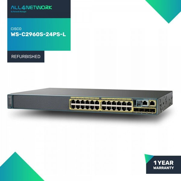 WS-C2960S-24PS-L Cisco 2960S Series Gigabit Ethern...