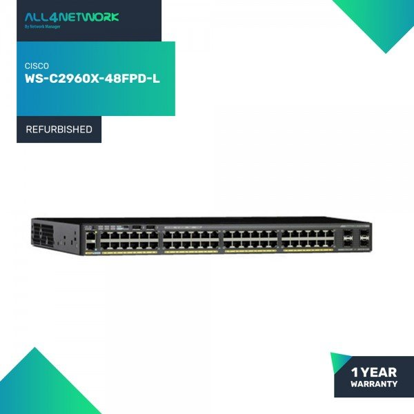 WS-C2960X-48FPD-L Cisco Catalyst 2960 X Series PoE...